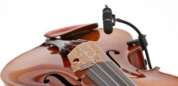 Micrófonos para violín